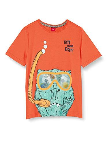 s.Oliver Junior Jungen 404.10.005.12.130.2038789 T-Shirt, 2580 orange, 116/122/REG