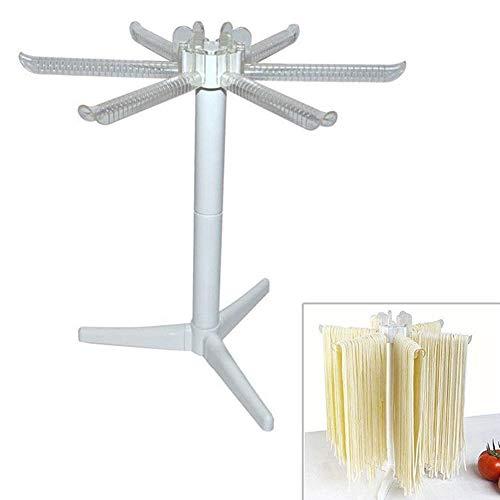 Donemore7 Nudel-Ständer mit 6 Griffen, zusammenklappbar, Haushalts-Nudel-Reibe, Spaghetti-Trockner, Ständer zum Aufhängen für Zuhause