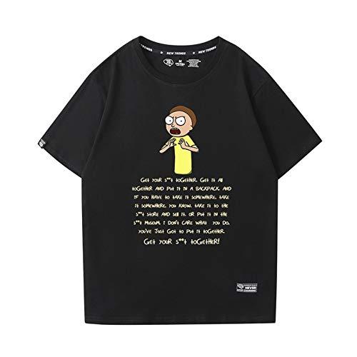 GRTBNH Anime Rick y Morty Camiseta Moda Hombre Estampado AlgodóN Manga Corta Unisex Adulto Camisetas,Style 6,L