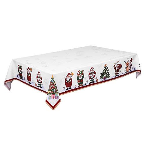 BESTonZON 84 x 60in Mantel de Navidad Decorativo Camino de Mesa Cubierta de Mesa Larga para Navidad Fiesta Vacaciones Invierno Decoración para el hogar ✅