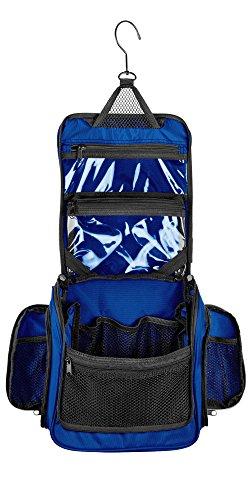 Medium Size Hanging Toiletry Bag with Detachable TSA Compliant Zipper Pocket & Swivel Hook (Marine)
