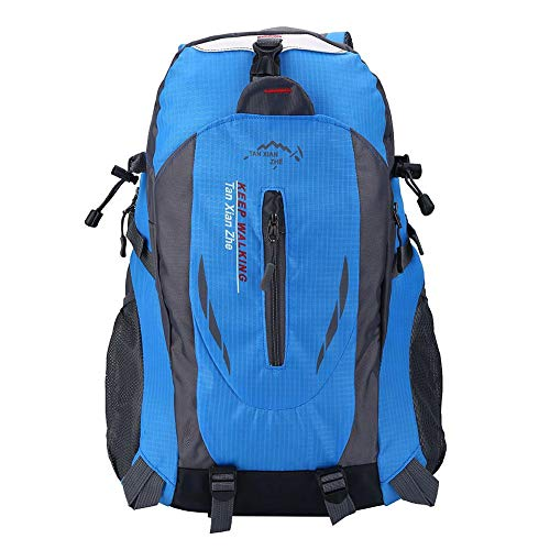 Dioche 40L Hiking Backpack Lightweight Hiking Backpack Hiking Material is Waterproof for Travelling/Climbing/Sport/Outdoor Camping (Blue)