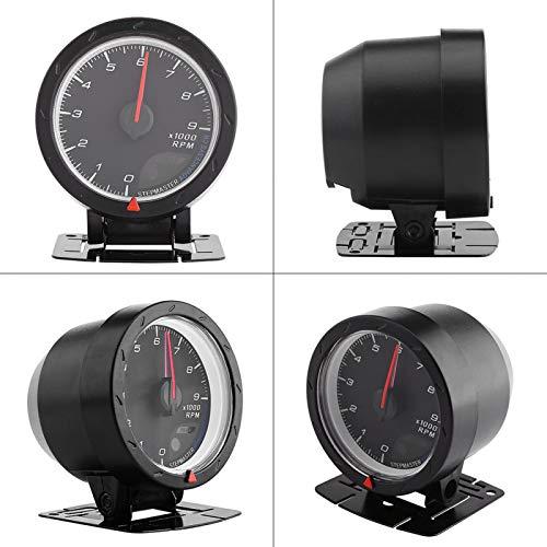 Medidor de RPM, tacómetro, viene con soporte de montaje firme y tornillos Reparación de coche resistente para amantes de los coches Coches de carreras