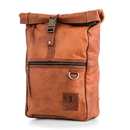Berliner Bags Leather Backpack Utrecht M Laptop Rucksack Men Women Vintage Brown
