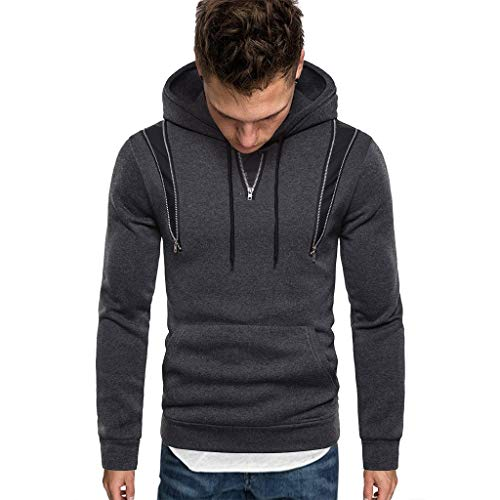 Review Of Men Winter Hoodies Slim Fit Casual Fashion Printed Patchwork Long Sleeve Hooded Sweatershi...