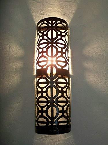 Aplique pared hierro forjado marroquí lámpara farolillos