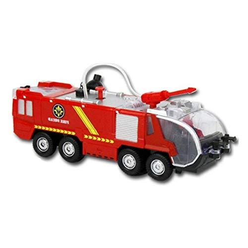 Toys Fire Fighter - Coche de bomberos, con función de salpicadura de agua, escalera, panel lateral para abrir, luz y sonido, camión de bomberos, camión de bomberos, tanque y cañón de agua