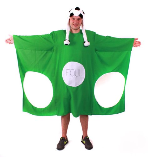 Junggesellenabschied Kostüm Torwand grün XL mit Fußball Mütze witzige Kostüme JGA