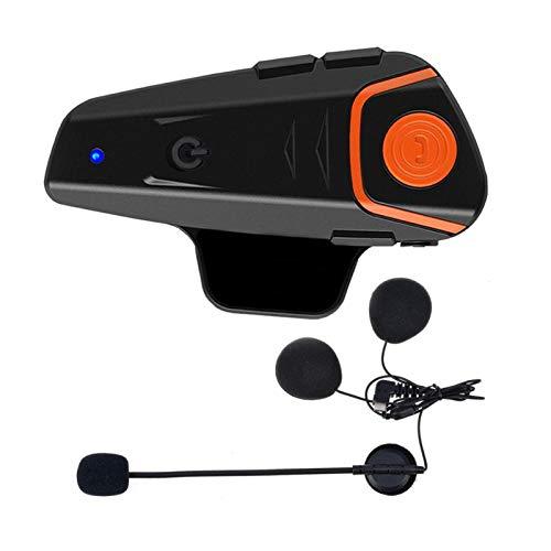 MLX 1 Unids / 2pcs BT-S2 Pro Casco De Motocicleta Casco Intercom Motorbike Inalámbrico Bluetooth Auriculares Impermeable BT Interphone con FM LQLYEM (Color : 1pc for Open Helmet)