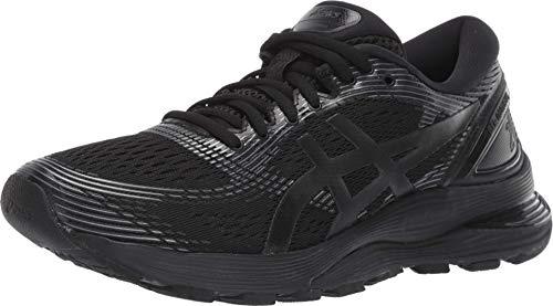 ASICS Gel-Nimbus 21 - Zapatillas de correr para mujer, Negro (Negro/Negro), 42 EU