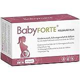 BabyFORTE Folsäure Plus - Vegan - Vitamine Kinderwunsch & Schwangerschaft - 17 Nährstoffe - 60 Kapseln bis zu 2 Monate + Laborgeprüft
