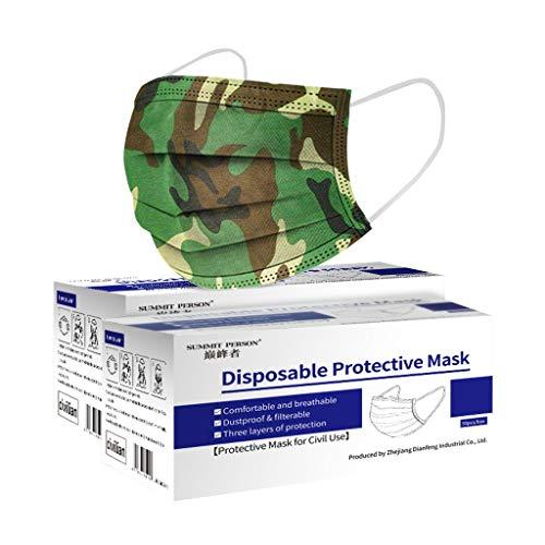 KAMEIMEI 100 Pack/Box Unisex Camouflage...