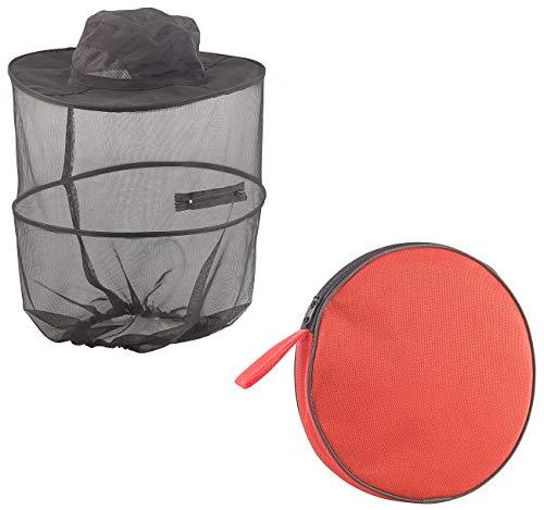 Semptec Urban Survival Technology Mückenhut: Kompakt Faltbarer Hut mit integriertem Moskitonetz, 300 Mesh, schwarz (Mückenschutzhut)