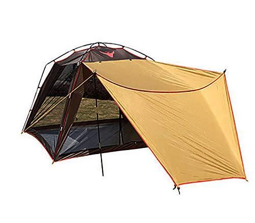 ZHANGJN Tente de camping pour 2 personnes - Imperméable - Tente instantanée automatique d'extérieur pour sports de plein air, randonnée, voyage, vacances en famille - Marron