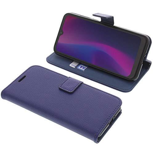 foto-kontor Tasche für Blackview A60 Book Style blau Schutz Hülle Buch