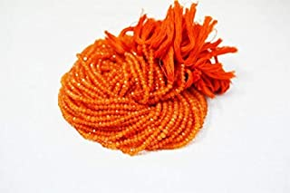 Jewel Beads Natural Beautiful jewellery Natural Carnelian Faceted Rondelles/Finest Quality / 3-4 mm /14 inch strand / 5StrandsCode:- JBB-35536