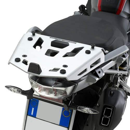 KRA5108/SRA5108 - Placa trasera de aluminio para baúl Monokey compatible con BMW R 1200 GS R 1250 GS
