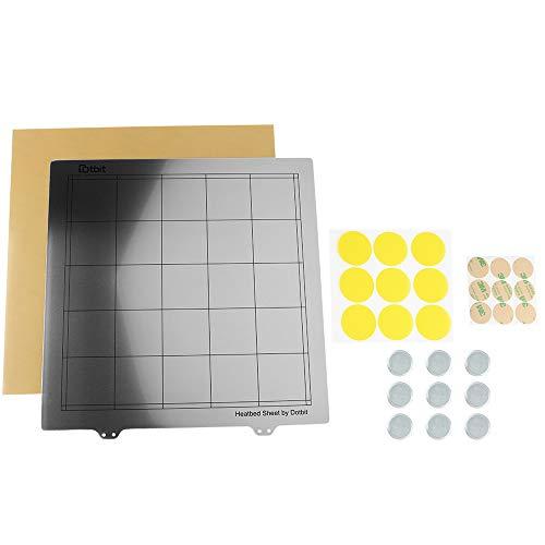 Ze – 300 x 300 mm verwarmd printbed plaat van staal met cirkelvormige magneet + magnetische sticker + PEI vel voor 3D-printer