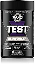 PMD Sports Z-Test Nighttime Testosterone Support - Sleep Inducer and Relaxation for Maximum Anabolic Effect - Improve Muscle Recovery, Increase Muscle Growth - 90 Capsules