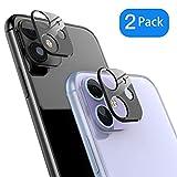 Protector de Lente de cámara para iPhone 11,Cámara Trasera Lente Protector Anti-Polvo/Anti-Rasguños[Compatible para Funda] Protector Cámara Trasera Case para iPhone 11-Negro/2 Pack.
