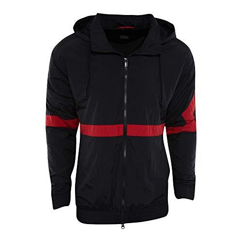 Jordan Windjacke – Sportswear Diamond Track schwarz/rot Größe: L (Large)