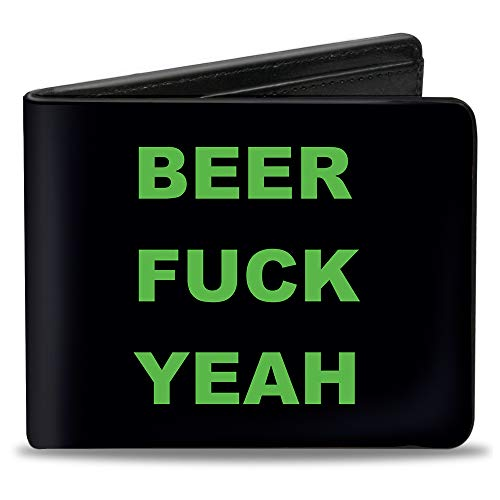 Buckle-Down Herren Bifold Wallet Beer Quote Zweifalten-Geldbörse, mehrfarbig, 10.1 cm x 8.89 cm
