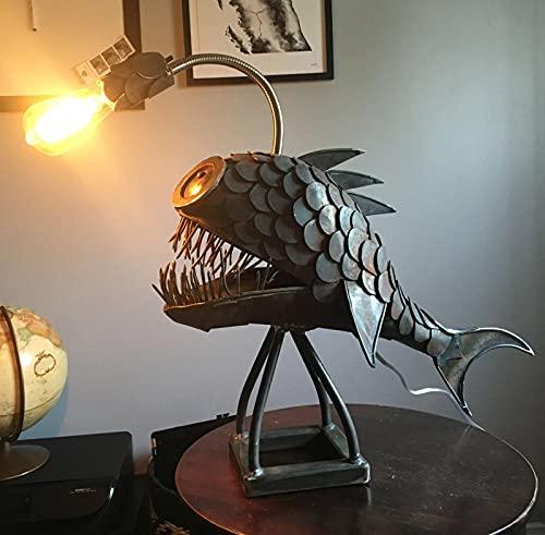 DYJXIGO Angler Fish Lamp, Angler Fish Lamp, Creative Angler Fish Lamp, Lámpara de mesa de arte