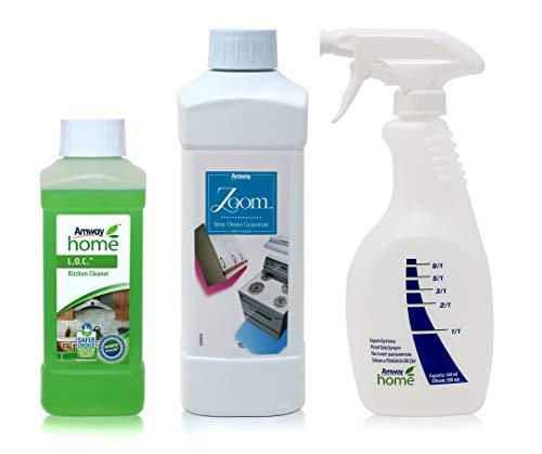 Amway Reinigungspaket - 1 x Sprayreiniger-Konzentrat ZOOM™ - 1 Liter + 1 x Sprühflasche mit Dosiergriff AMWAY HOME™ + 1 x Küchenreiniger L.O.C.™ - 500 ml