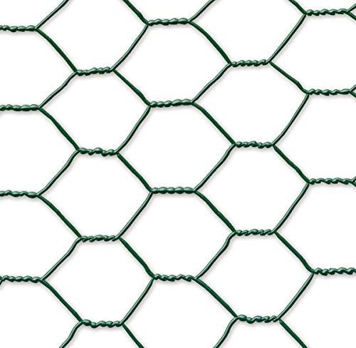 Grillage métal plastifié - 0,50 x 10 m/41 x 0,8 mm Galvanex Plast 41\