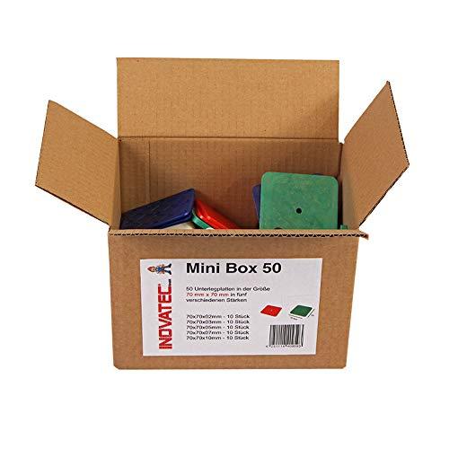 50 x Inovatec Kunststoff Unterlegplatten 70 x 70 x 2-10 mm Ausgleichsplatten Abstandshalter Niveauausgleich