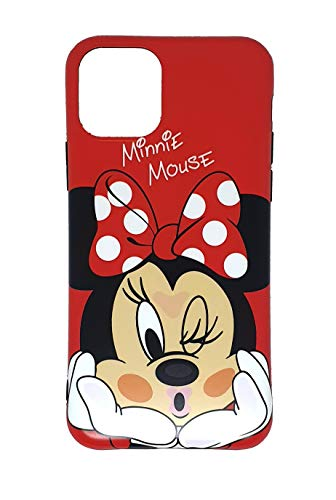 Onix Store Funda de Silicona Flexible con Minnie y Mickey Mouse para iPhone 11 Pro (Minnie)