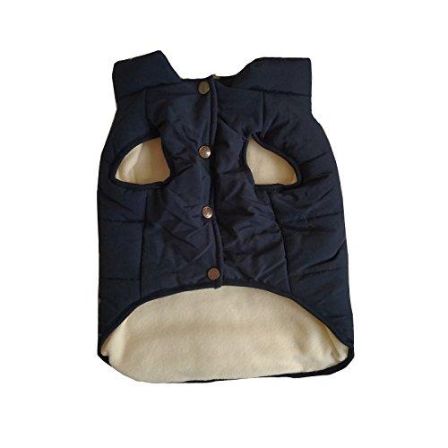 PENIVO Hundebekleidung Winter Warme Mäntel und Jacken, Welpenhundeweste Bekleidung für kleine mittelgroße Hunde Federkleidung (M, Blau)