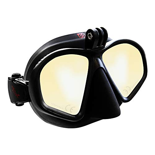 Hammerhead Spearguns MV3 Action Diving Mask - Ultra Clear with Amber Tint