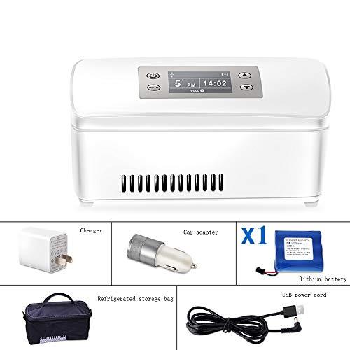 Xyanzi Mini-Kühlschränke Insulin-Kühler, Reisetasche Flasche, Die Den Insulin-Reisekoffer for Den Kleinen Kühlschrank Schützt Hält Diabetesmedikamente Kühl und Isoliert (Color : 1 Lithium Battery)