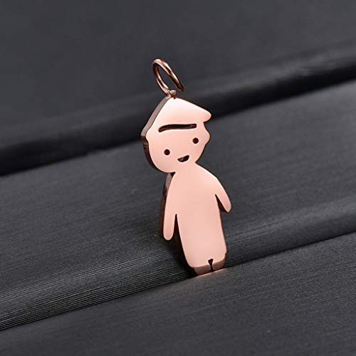 Pendant Necklace (1 set)Stainless Steel Son Daughter Pendant Necklace Children Loving Family Jewelry,The gift for yourself, family and friends.A son (single pendant)