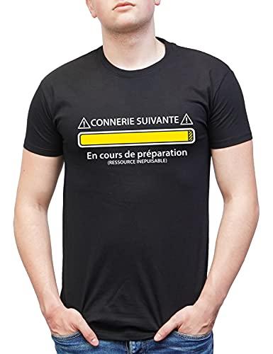 Connerie suivante en Cours de préparation | Tee Shirt Cadeau Homme Humour pour Homme, Ado Gamer et garçon Geek | Cadeau Anniversaire Papa Drole Taille XL