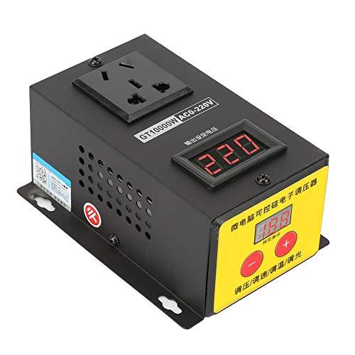 Regulador de voltaje, CA 220V 10000W Regulador de voltaje electrónico de tiristor ajustable de alta precisión