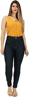 Calça Jeans Imporium Feminina Cós Alto Cintura Alta Cropped 19414