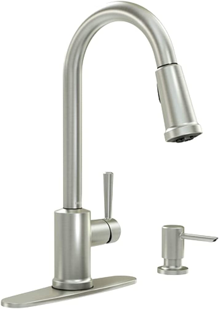 Moen 87090MSRS Indi 1 sale Max 50% OFF Handle Resi Faucet Spot Kitchen Pull-Down