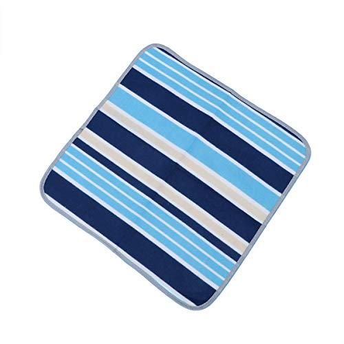 LIOOBO Outdoor Camping Mat Sitzkissen Tragbare wasserdichte Stuhl Picknick Matte Pad für Kinder Erwachsene (Blue Strip)