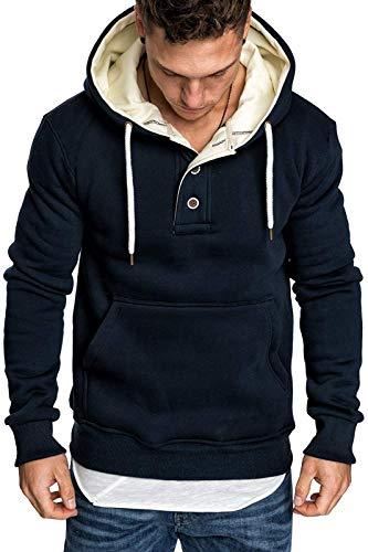 Męskie bluzy z kapturem polarowa bluza prosta bluza z kapturem sweter z kapturem z kieszenią typu kangurka M-3XL