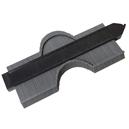 型取りゲージ コンターゲージ 250mm 測定ゲージ 測定工具 (グレー ロック付き)