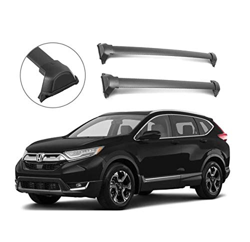 Roof Rack Crossbars Roof Rail Cross Bars Fit 2017-2020 Honda CRV Factory Side Rails Aluminum OE Style Cargo Luggage Kayak Rooftop Carrier (Black)