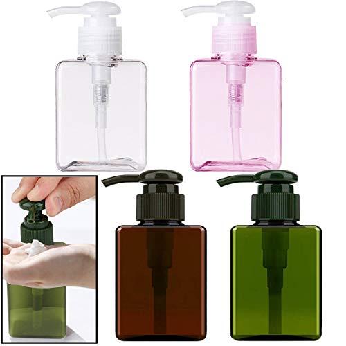Osuter 4 Piezas Botellas Dispensadoras de Jabón Vacías Rellenables 250ML Dispensador de Jabón para Dispensar Loción Gel Desinfectante Jabón Champús