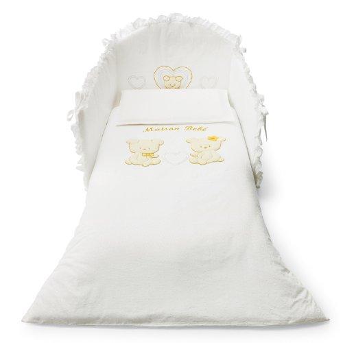 Pali Spa Maison Bebè - Kit de cuna con 3 piezas, color beige