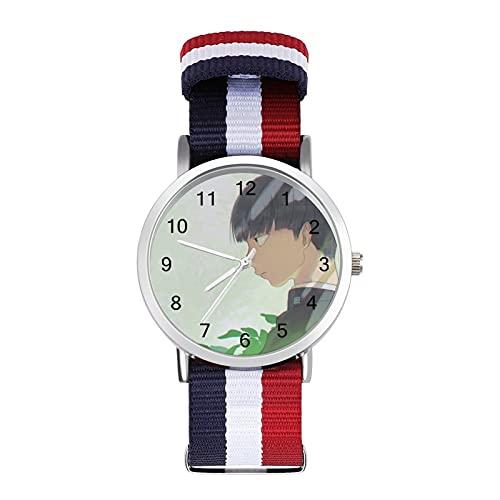 Mob Psycho 100Trenzado Banda Reloj con Escala Moda Negocios Ajustable Banda Impresión Color Banda Adecuado tanto para Hombres como Mujeres
