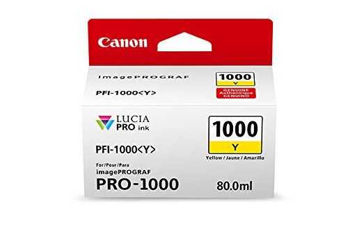 Canon 0549C002 CanonInk Lucia PRO PFI-1000 Yellow Individual Ink Tank
