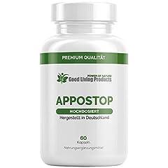 Appo Stop | De eetlustremmer EXTREM | Natuurlijke middelen | Snel en succesvol voor vrouwen en mannen | 60 capsules | Made in Germany (1)*