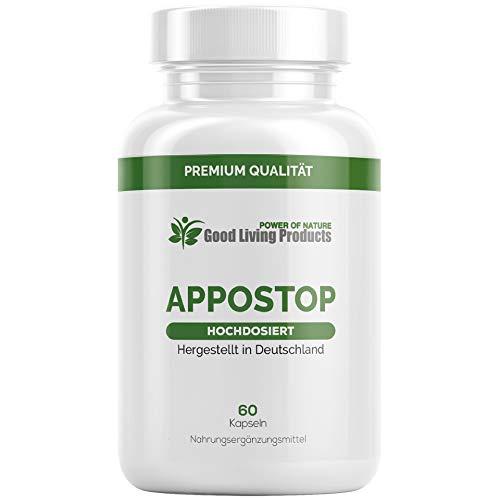 Appo Stopp | Der Appetitzügler EXTREM | Natürliches Mittel | Schnell und erfolgreich für Frauen und Männer | 60 Kapseln | Hergestellt in Deutschland (1)