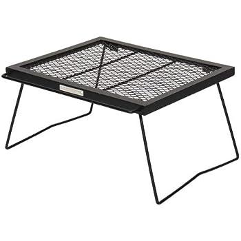 [クイックキャンプ] ONOE×QUICKCAMP アイアンメッシュテーブル 焚き火 直火 QC-ON01